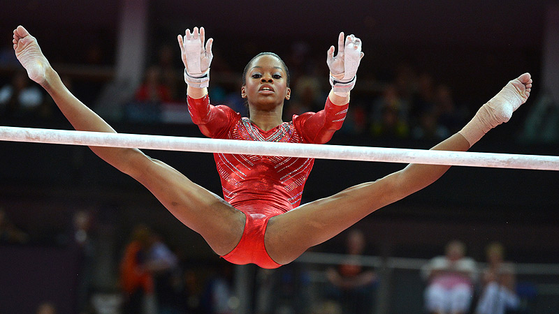 Gabby Douglas stole the gymnastics show during the all-around competition at the 2012 London Olympics.