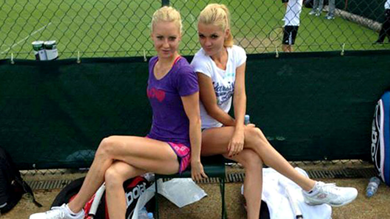 Agnieszka Radwanska, right, shared a house with her sister Urszula and enjoyed her mom's cooking during the Wimbledon fortnight.