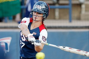 Lauren Gibson's versatility at the plate has been a key for Team USA.