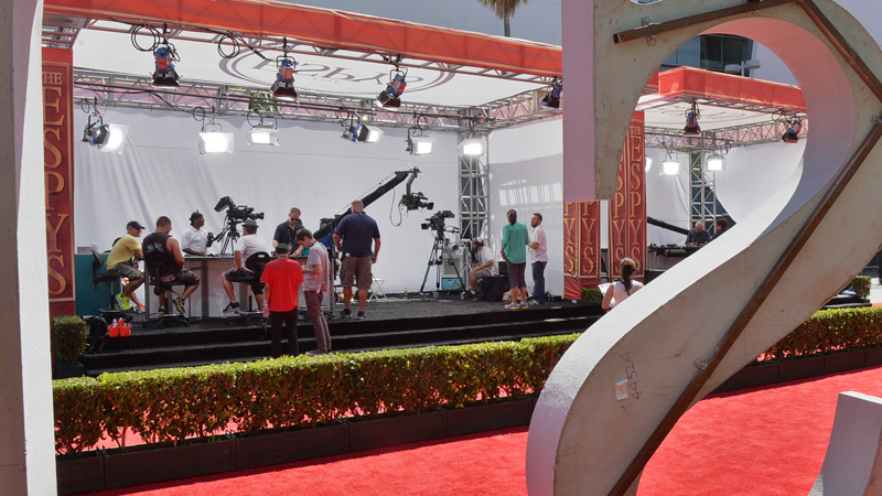 Red Carpet set up prior to The 2013 ESPYS.