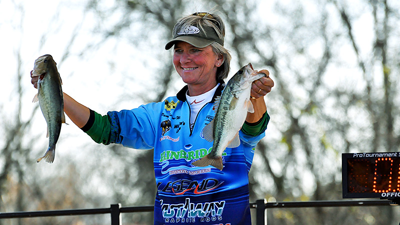 Pam Martin-Wells is the only woman to make the cut for the final day of the Bassmaster Classic, finishing 22nd in 2010.