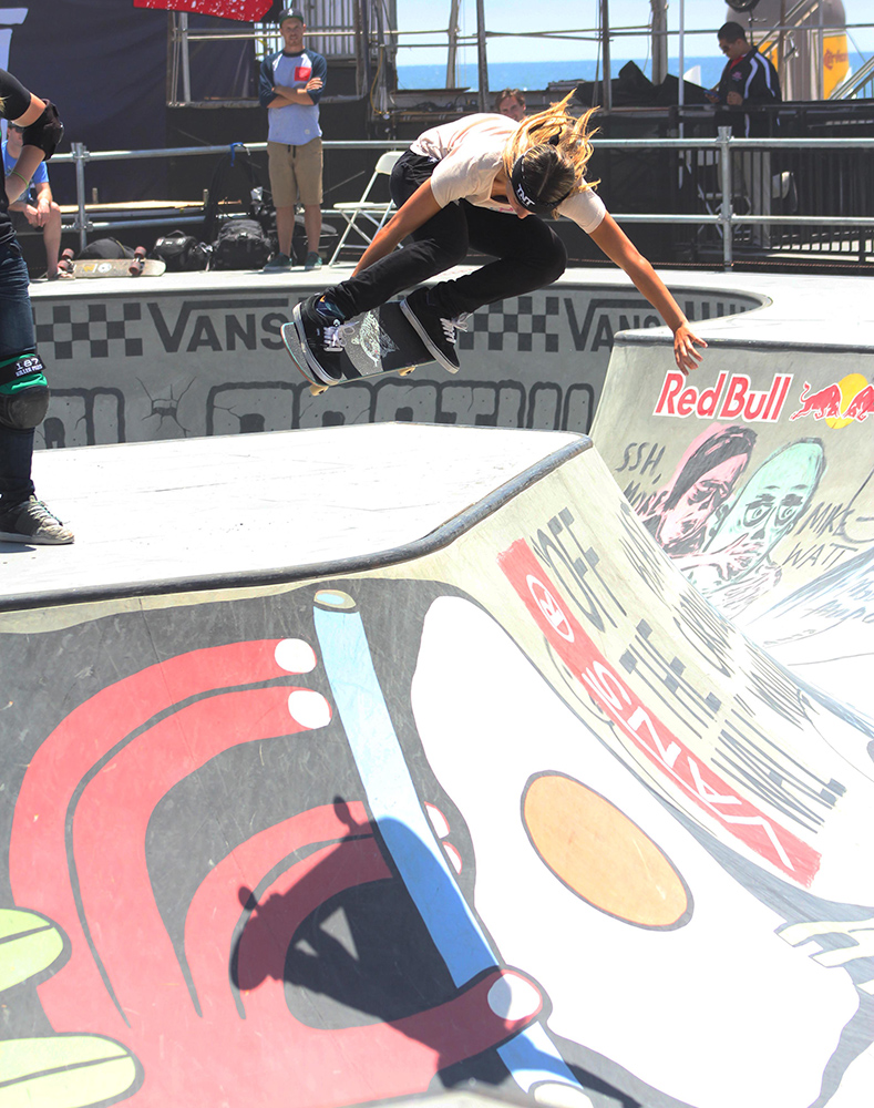 Skate feminino no US Open Surfing