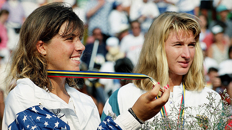 Jennifer Capriati dropped the first set of the gold-medal match at the 1992 Olympics against Steffi Graf, but rallied to win.