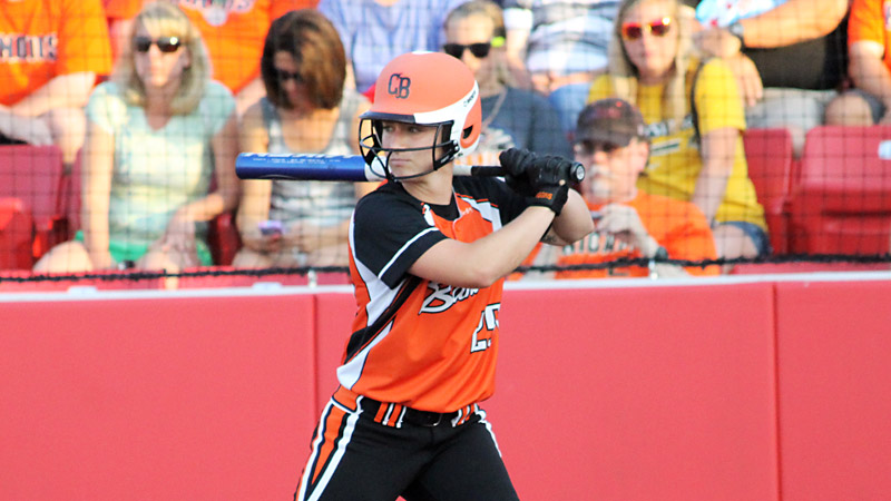 A terrific center fielder, Megan Wiggins also leads the NPF in batting average and home runs and has helped carry the Bandits to first place.