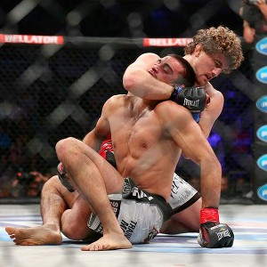 Andrey Koreshkov mustered next to no defense against Ben Askren's wrestling.