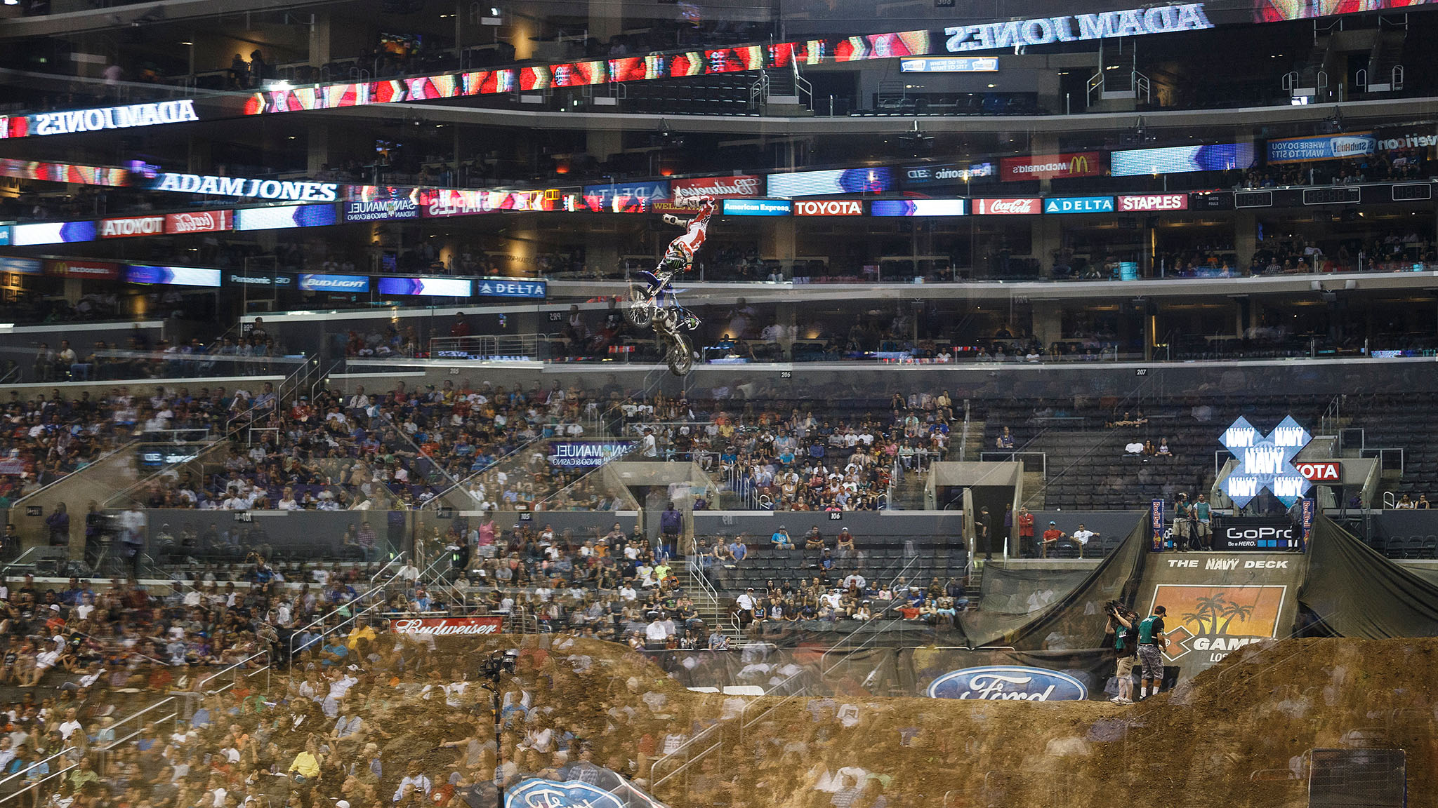 Adam Jones' 90.00 on his second run in Moto X Freestyle tied Taka Higashino for the best score of the night, but because of the tiebreaker, Jones would have to settle for silver. It was Jones' sixth X Games medal and fifth in Freestyle.