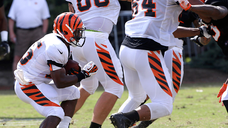 Running back Giovani Bernard was the target of jokes early in Hard Knocks.