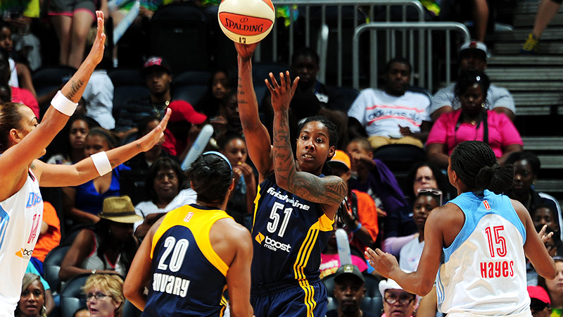 Jessica Breland couldn't find a spot in the WNBA last season but now is contributing to the defending champion Fever.