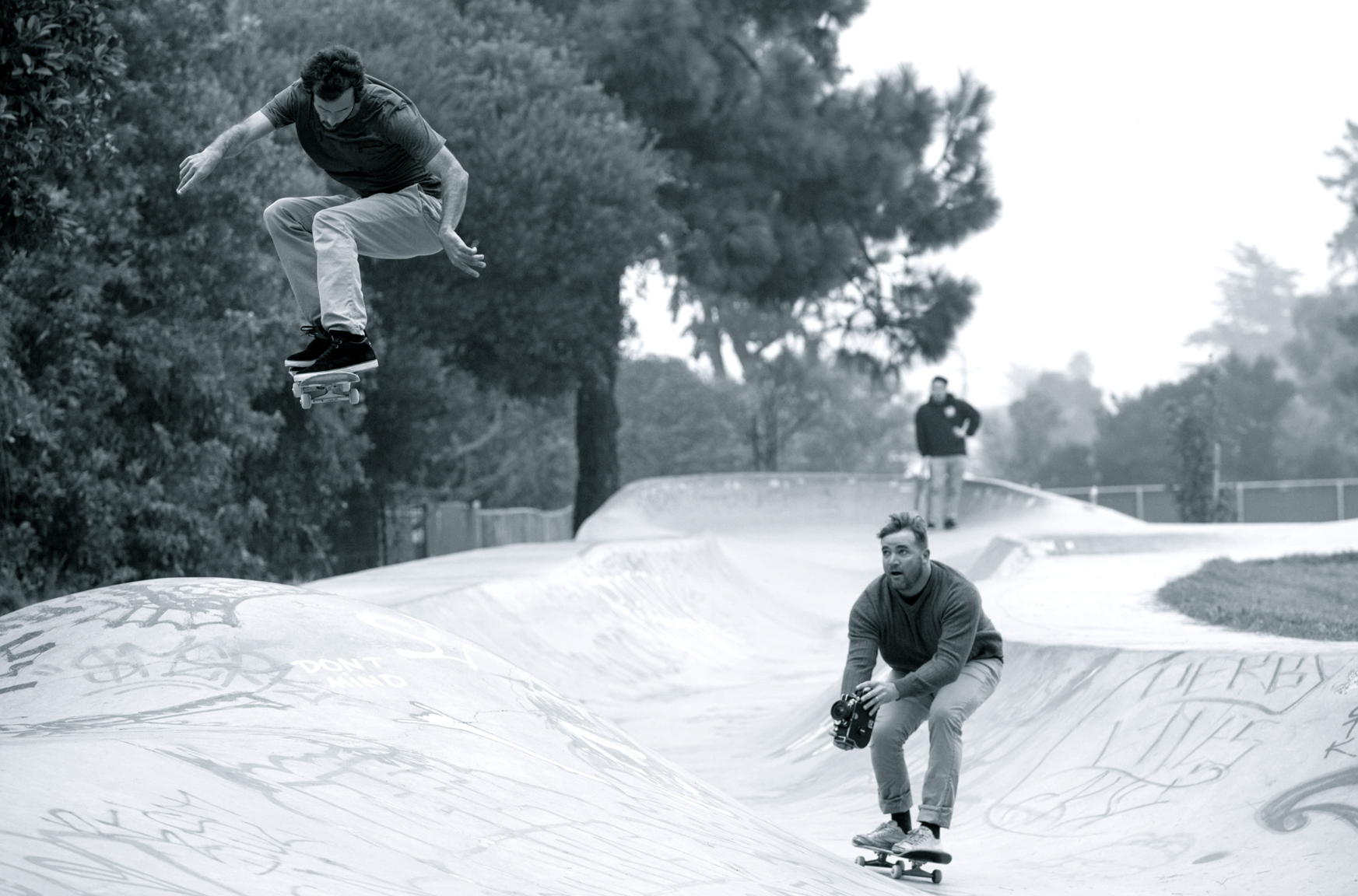 Thomas Campbell is still inspired by the raw power of The Stooges. Here he films skater Javier Mendizaba at the Derby Bowl in Santa Cruz, Calif., for his new film, Cuatro Sueos Pequeos.