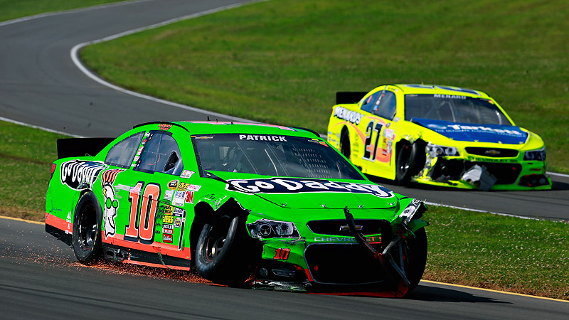 Danica Patrick was involved in two crashes in a three-race span, forcing her out of both races.