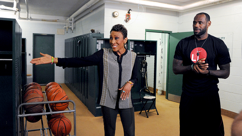 LeBron James talked about his motivation with Robin Roberts. It is part of our job to be there for these kids, to be able to shed light on darkness, the Miami Heat star and NBA MVP said.