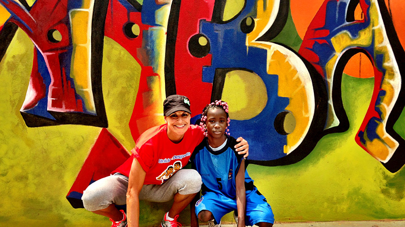 As someone who made it to the WNBA from small-town Portugal, Ticha Penicheiro was able to bring a story of a dream come true to kids in Angola.