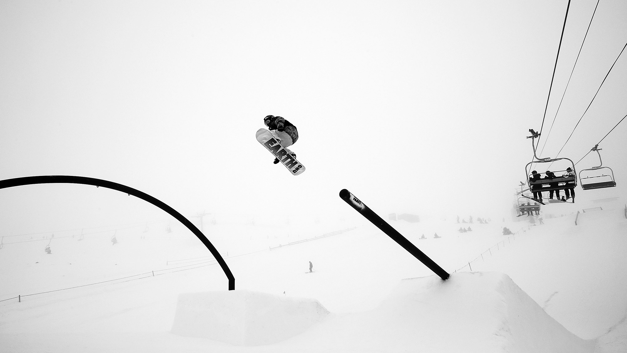 Jamie Anderson navigates the slope course in adverse weather conditions at the FIS World Cup final in New Zealand. The X Games Aspen gold medalist won the event on Sunday, and the men's event was cancelled because of the weather.