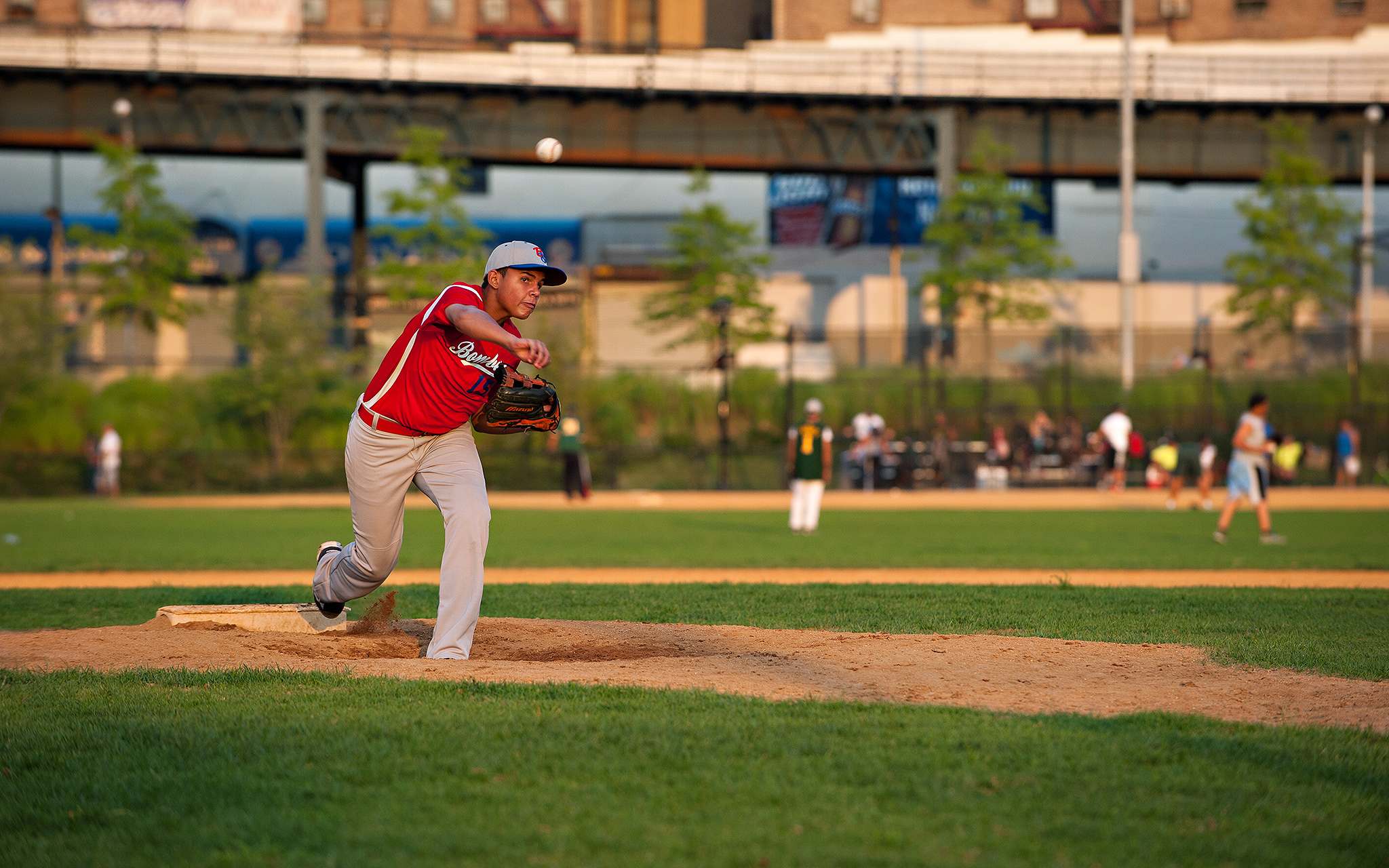 Pitching at Heritage Field