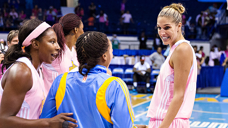With a win over the New York Liberty on Friday night, Elena Delle Donne and her Chicago Sky teammates clinched the first playoff berth in franchise history.