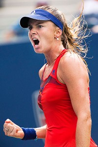 Daniela Hantuchova was extended to three sets before finally ending Alison Riske's dream run.