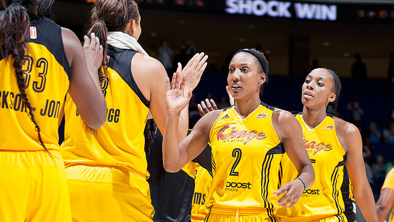 Candice Wiggins is averaging 10.2 points per game for the Tulsa Shock.