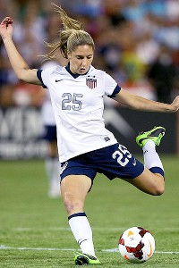 Morgan Brian also got into the act for the U.S., scoring her first international goal.
