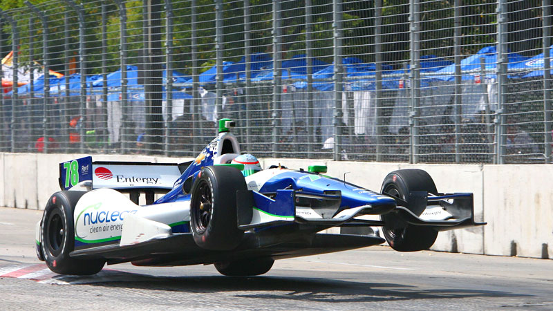 Cars were flying everywhere at Baltimore, but the track suited Simona de Silvestro, and she ended up with her best finish of the year.