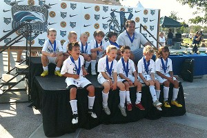 Chris with his 2011 California State Cup champion teammates and coach Danny Salas.