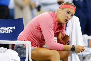 Victoria Azarenka was understandably disappointed after losing in three sets to Serena Williams.