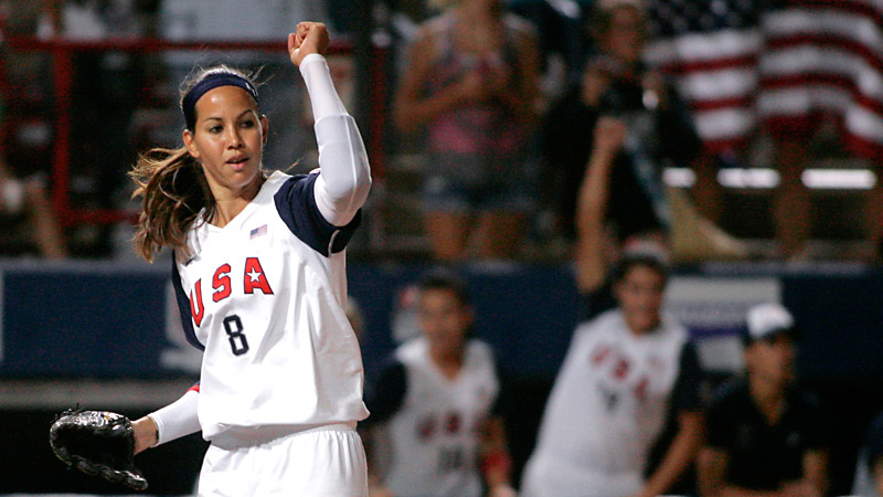 Cat Osterman won two medals as part of Team USA, the gold in Athens in 2004 and the silver in Beijing in 2008, the last year softball has participated in the Olympic Games.