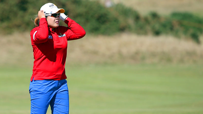 Heading into the Women's British Open, Inbee Park attempted to become the first player to win four pro major championships in a year. But she ended up tied for 42nd and seemed relieved that the talks of a Grand Slam were supposedly over.