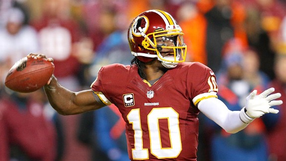 His first outing after knee surgery was rocky, but Robert Griffin III has rare arm quickness.