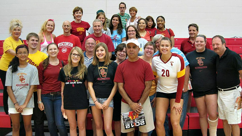 There was a huge turnout of family and friends for Emily Young when she and her USC teammates played at Northern Illinois.