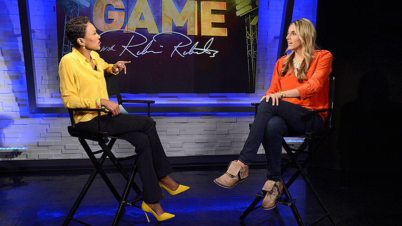 Elena Delle Donne had a dream rookie season with the Chicago Sky, and before tipoff of the 2013 WNBA playoffs, she told Robin Roberts that it's her sister who keeps her humble.