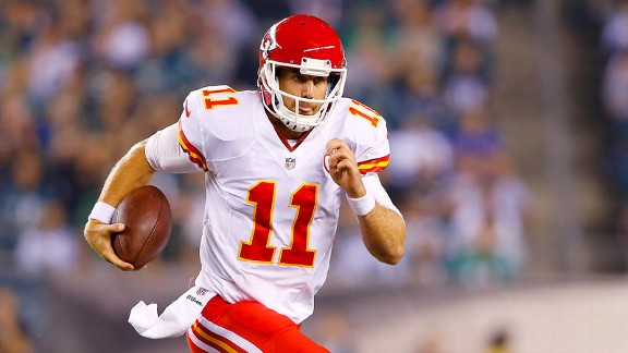 Alex Smith might not be a top fantasy pick, but his Chiefs have a perfect record.