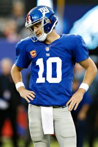 Eli Manning killed the Giants' hopes of improving to 1-4, throwing three picks on three straight drives.
