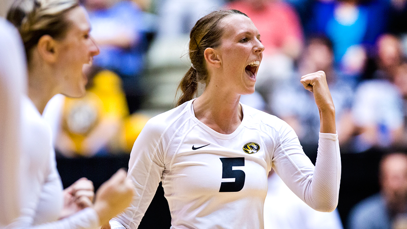 Senior Lisa Henning has been a big part of Missouri's success, leading the Tigers with 249 kills.