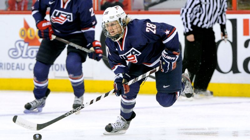 The last time she was on the world stage, at the 2013 IIHF Women's World Championship, Amanda Kessel scored the gold-clinching goal against rival Canada. That was just weeks after she was named the Patty Kazmaier Memorial Award winner as the top player in NCAA Division I women's hockey after leading Minnesota to an undefeated season and the NCAA title. Kessel, who is the sister of Team USA men's player Phil Kessel, is returning from hip surgery and is said to be 100 percent. Which will only help Team USA's chances of winning Olympic gold for the first time since 1998. i(Photo by Getty Images)/i