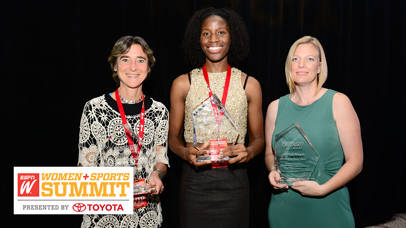 This year's Everyday Heroes recipients: Barb Lazarus, Mobolaji Akiode and Justine Siegal.