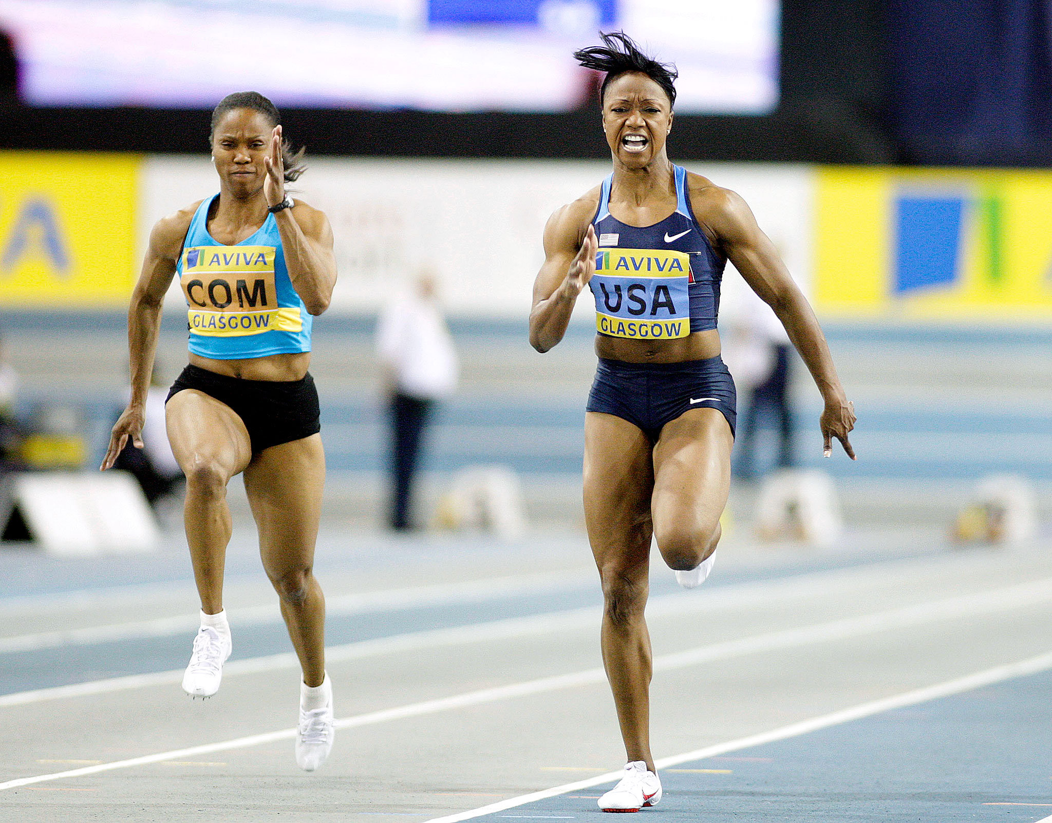 Carmelita Jeter has also starred indoors in the 60-meter dash, winning the Aviva International Match in Scotland as well as the U.S. national title in 2010.