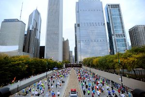 In the wake of the Boston Marathon bombings earlier this year, police have increased security for Sunday's Chicago Marathon, expected to draw 45,000 runners and more than a million spectators.