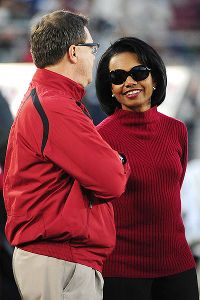 Condoleezza Rice hired caoch Tyrone Willingham while she was provost of Stanford.