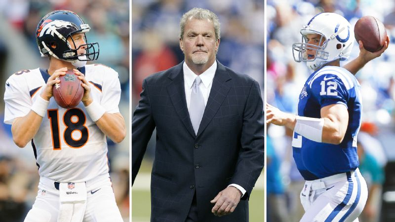 Peyton Manning, Jim Irsay, and Andrew Luck