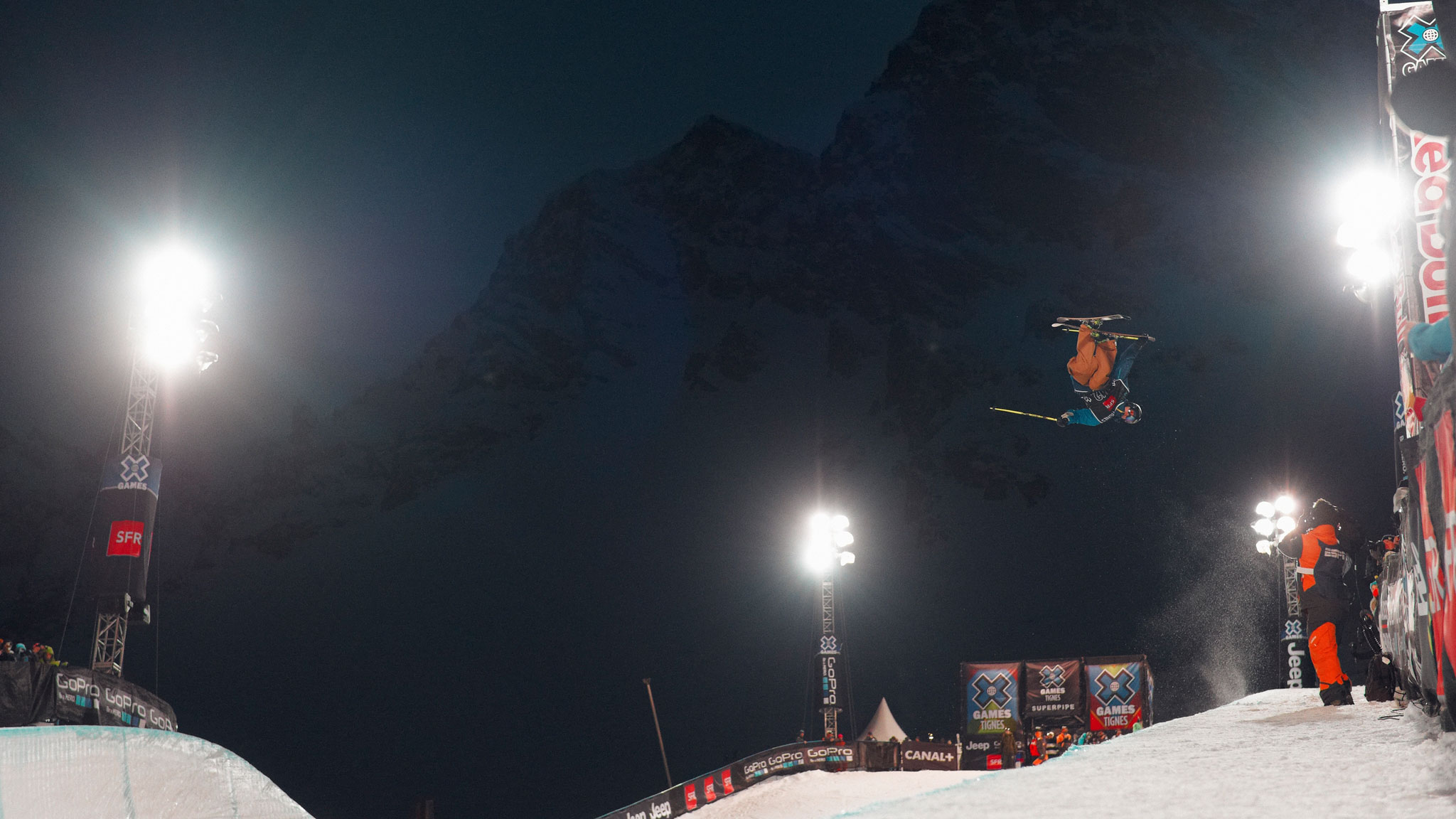 David Wise became the first skier to land back-to-back double cork 1260s at the X Games in Aspen.