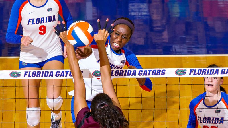 Senior Chloe Mann, the 2012 SEC player of the year, is leading the Gators with 219 kills this season.