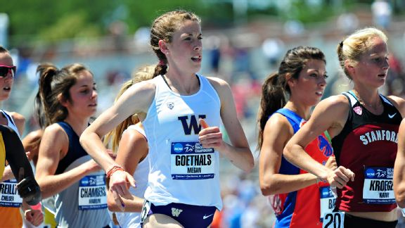 It took effort for Megan Goethals to get on the track, but she succeeded once she did.