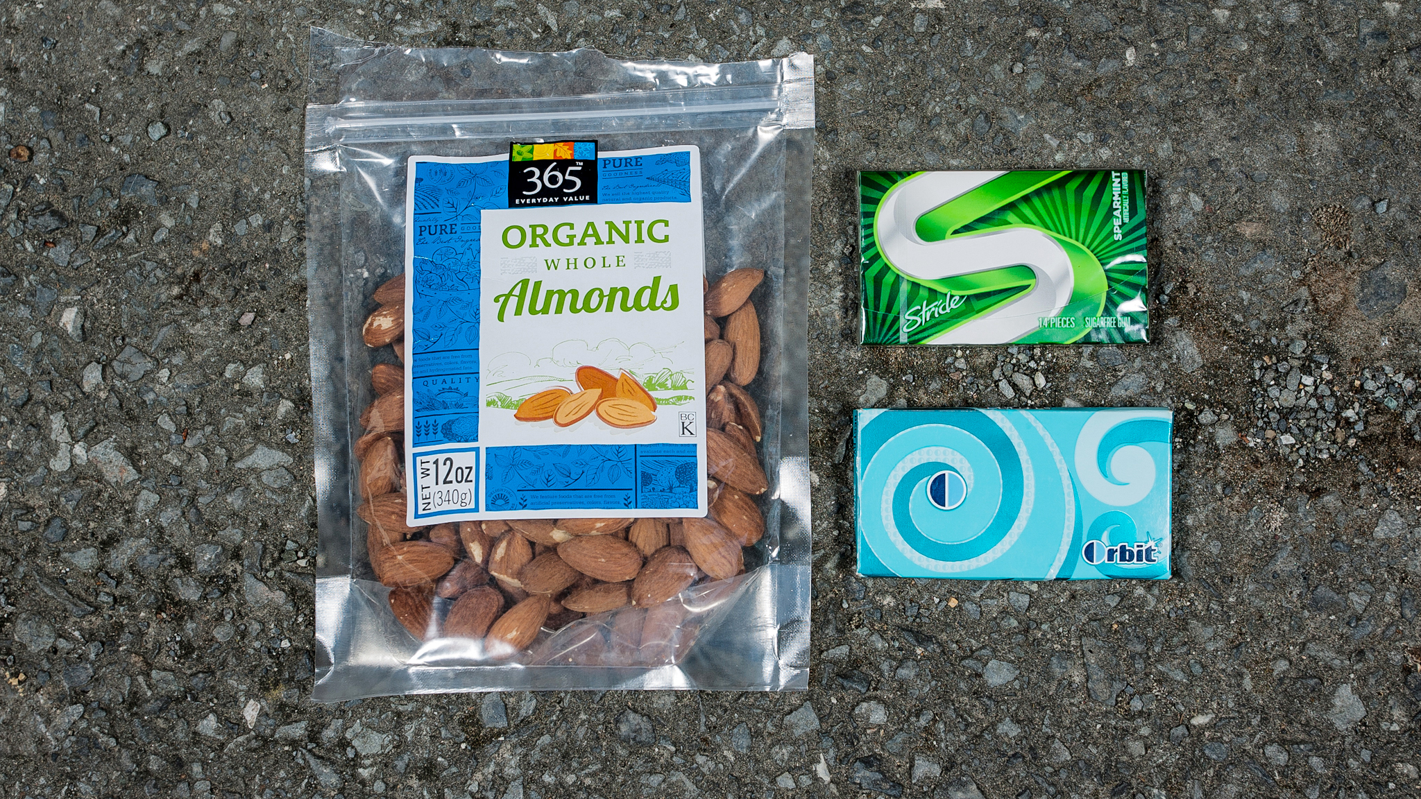 Almonds and gum