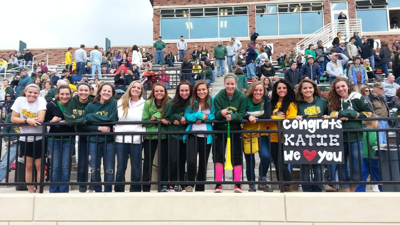 St. Norbert honored Katie Vanden Avond during the homecoming football game.