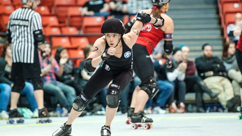Sandrine Rangeon used to play hockey -- both ice and inline -- for France, but gave those up after falling in love with roller derby.