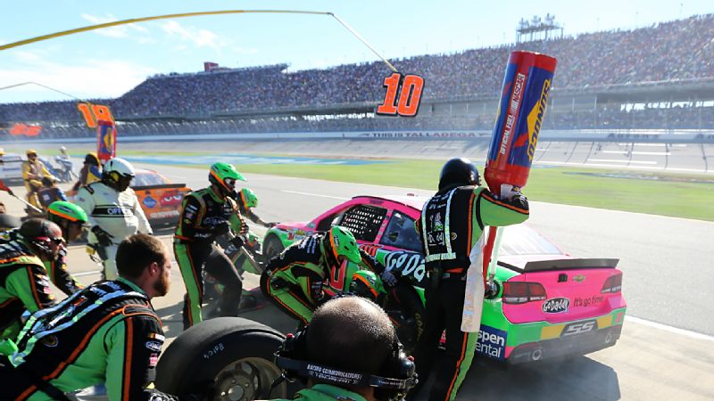 Running in the top 10 and heading toward perhaps her best Sprint Cup finish ever with 28 laps left at Talladega, Danica Patrick royally botched a pit stop, took a speeding penalty and wound up a lap down at 33rd.