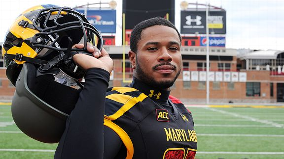 Maryland football player and former Army veteran Tehuti Miles finds refuge in football.