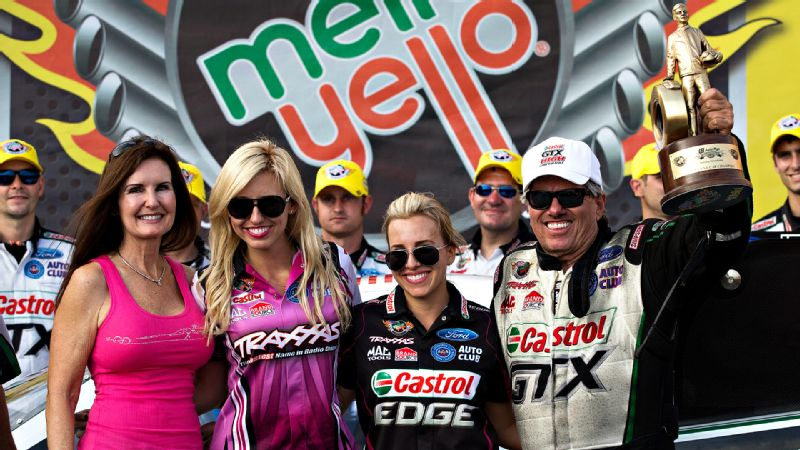 Not only has John Force won 16 NHRA titles during his incredible career, but he also is father to Funny Car racing stars Courtney, Ashley and Brittany. The family was even featured on its own reality show, Driving Force.