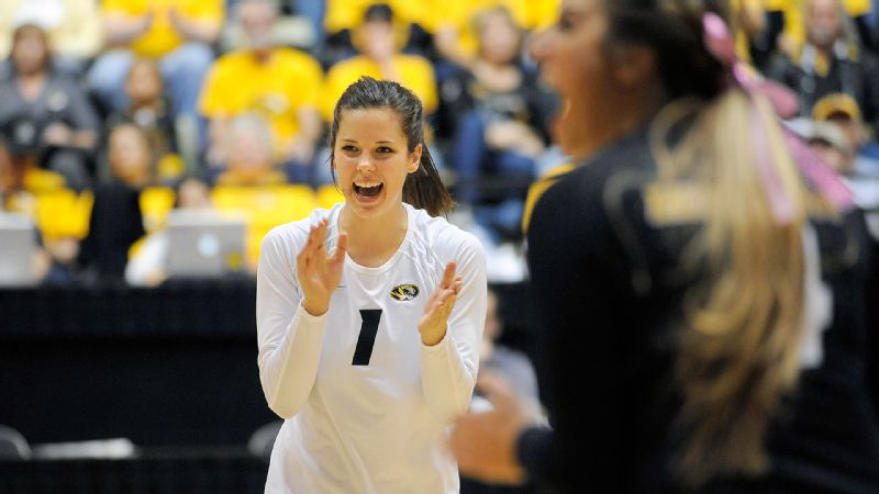 Setter Molly Kreklow has helped direct Missouri to a 31-0 record.
