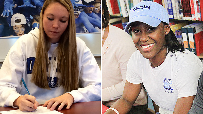 Top 100 prospects Erin Mathias and Jamie Cherry signed up to be part of the next chapter in the Duke-North Carolina rivalry.